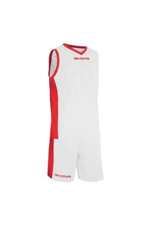 Givova Εμφανιση Μπασκετ KIT Power B05-0312 Λευκο-κοκκινο