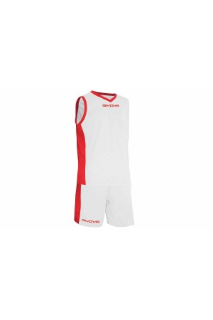 Givova εμφανιση μπασκετ Kit PowerB05-λευκο-κοκκινο
