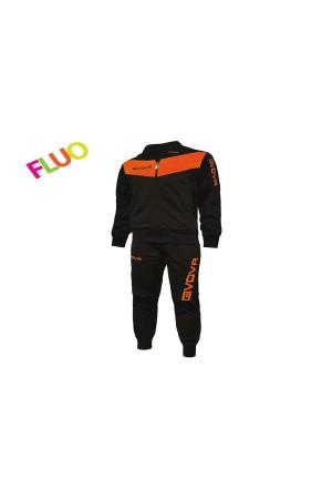 Givova tuta Visa fluo TR018-1028 μαυρο-πορτοκαλι