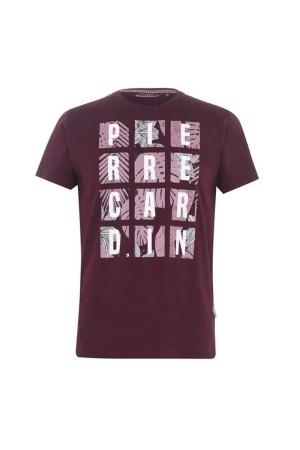 Pierre Cardin T-shirt Μπορντο