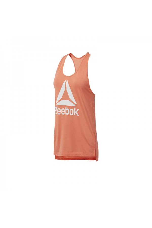 Reebok Αμανικη μπλουζα DU4855 Πορτοκαλι