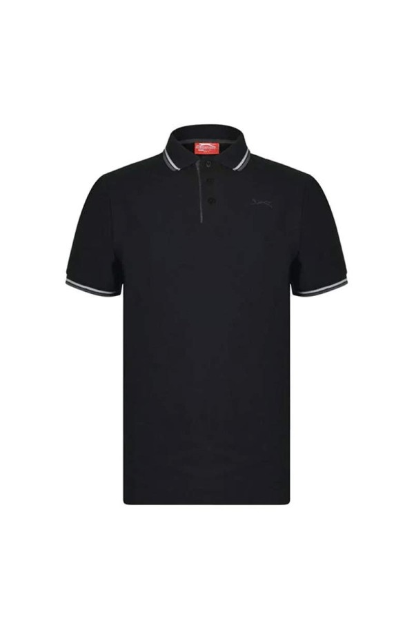 Slazenger Polo T-shirt Μαυρο-γκρι