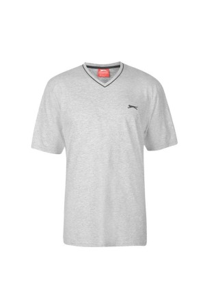 Slazenger T-Shirt με V λαιμοκοψη Γκρι
