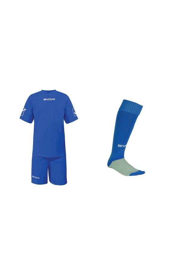 Kit Givova C48 εμφανιση+καλτσες ποδοσφαιρου ρουα