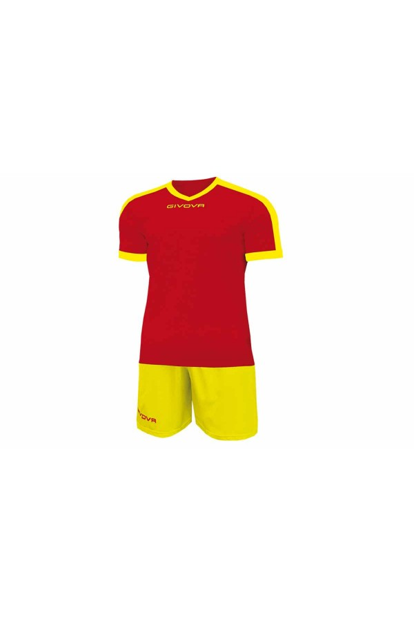 Kit Givova Revolution C59 1207 Εμφάνιση Ποδοσφαίρου κοκκινο-κιτρινο
