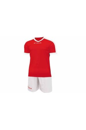 Kit Givova Revolution C59 1203 Εμφάνιση Ποδοσφαίρου κοκκινο-λευκο