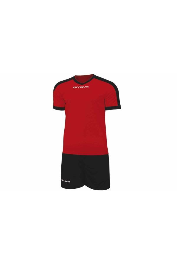 Kit Givova Revolution C59 1210 Εμφάνιση Ποδοσφαίρου κοκκινο-μαυρο
