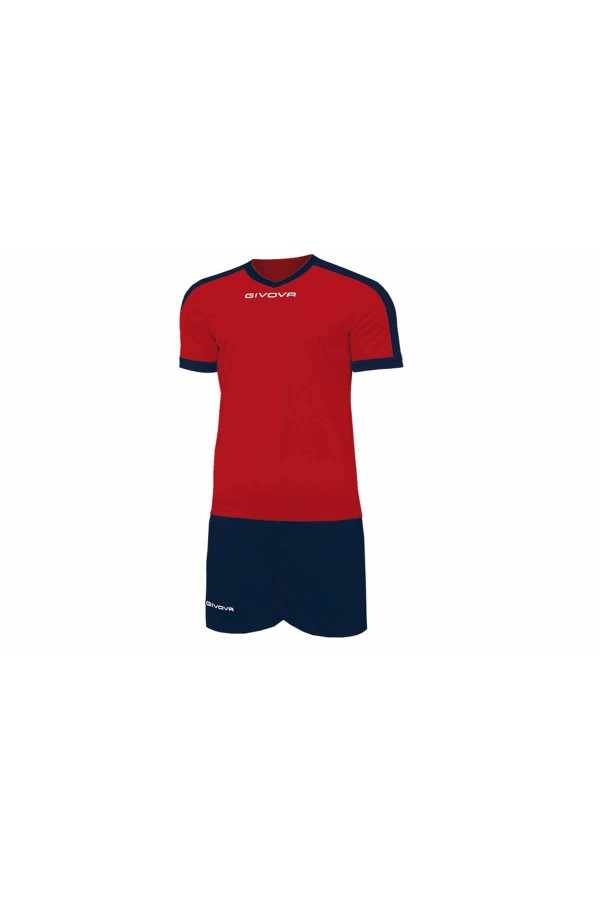 Kit Givova Revolution C59 1204 Εμφάνιση Ποδοσφαίρου κοκκινο-μπλε