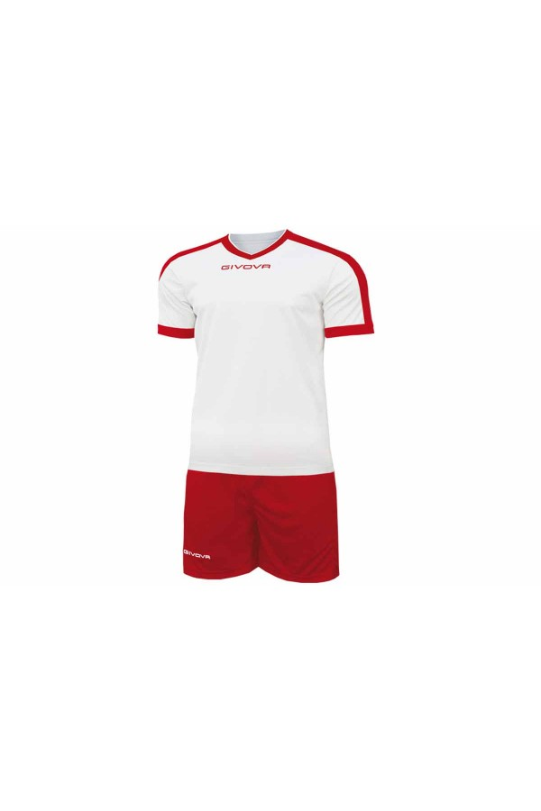 Kit Givova Revolution C59 0312 Εμφάνιση Ποδοσφαίρου λευκο-κοκκινο
