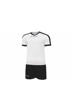 Kit Givova Revolution C59 0310 Εμφάνιση Ποδοσφαίρου λευκο-μαυρο