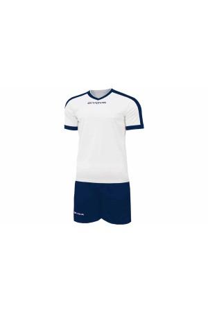 Kit Givova Revolution C59 0304 Εμφάνιση Ποδοσφαίρου λευκο-μπλε
