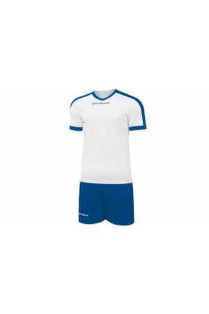 Kit Givova Revolution C59 0302 Εμφάνιση Ποδοσφαίρου λευκο-ρουα