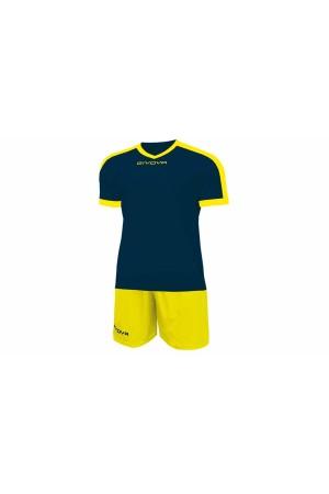 Kit Givova Revolution C59 0407 Εμφάνιση Ποδοσφαίρου μπλε-κιτρινο