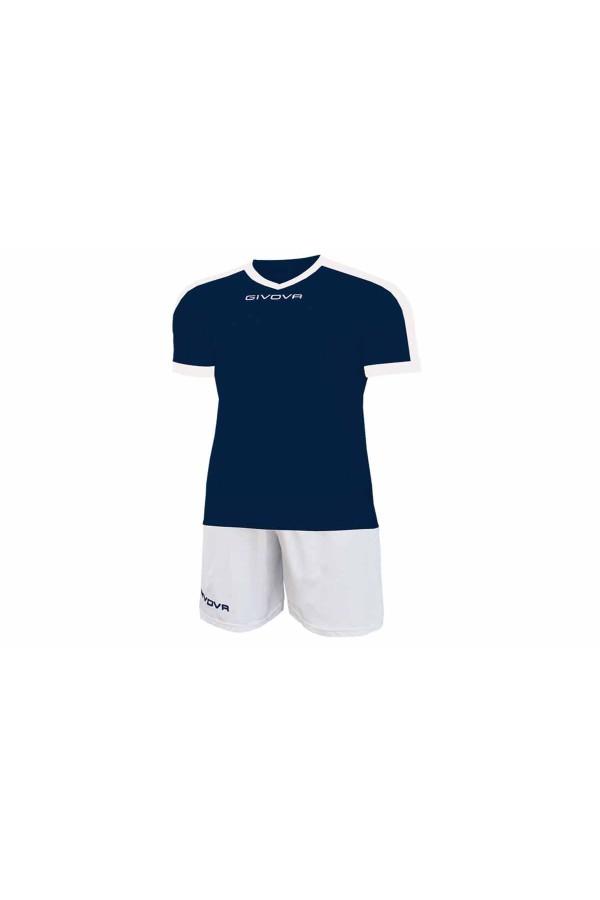 Kit Givova Revolution C59 0403 Εμφάνιση Ποδοσφαίρου μπλε-λευκο