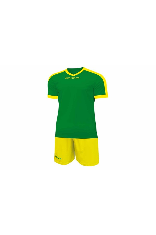 Kit Givova Revolution C59 1307 Εμφάνιση Ποδοσφαίρου πρασινο-κιτρινο