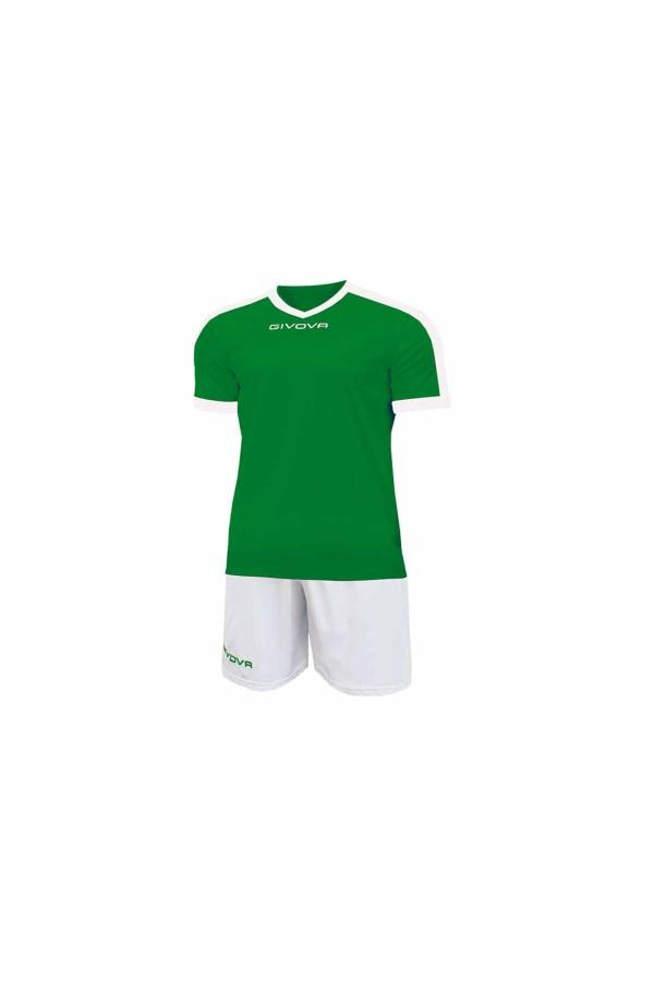 Kit Givova Revolution C59 1303 Εμφάνιση Ποδοσφαίρου πρασινο-λευκο