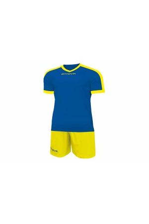 Kit Givova Revolution C59 0207 Εμφάνιση Ποδοσφαίρου ρουα-κιτρινο