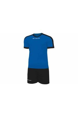 Kit Givova Revolution C59 0210 Εμφάνιση Ποδοσφαίρου ρουα-μαυρο