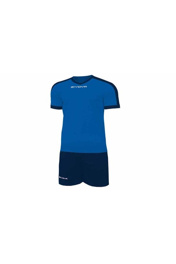 Kit Givova Revolution C59 0204 Εμφάνιση Ποδοσφαίρου ρουα-μπλε