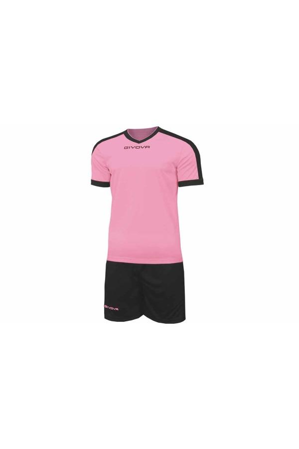 Kit Givova Revolution C59 1110 Εμφάνιση Ποδοσφαίρου ροζ-μαυρο