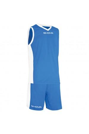Givova Εμφανιση Μπασκετ KIT Power B05-μπλε-λευκο