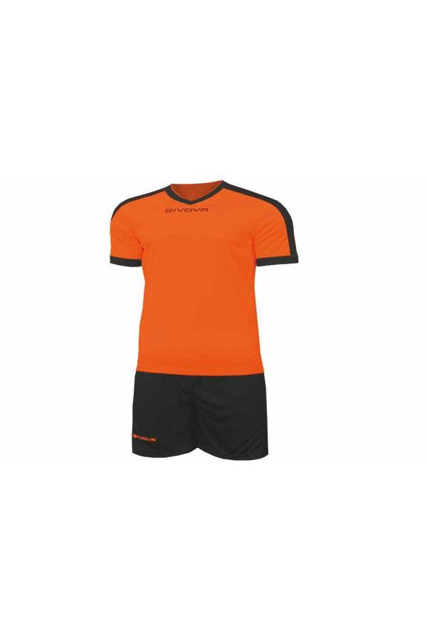 Kit Givova Revolution C59 0110 Εμφάνιση Ποδοσφαίρου πορτοκαλι-μαυρο