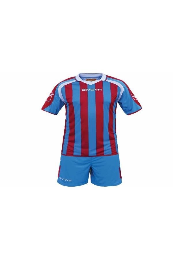 Givova Kit Supporter C24 εμφανιση ποδοσφαιρου-0212-γαλαζιο-κοκκινο-λευκο