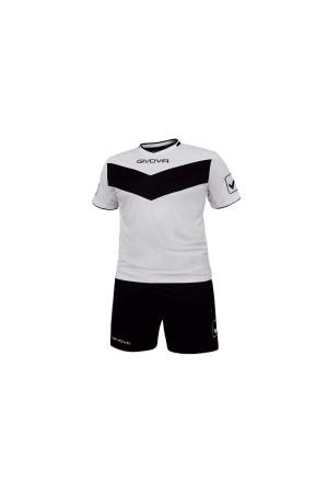 Givova Kit Vittoria T04-0310-Εμφανιση ποδοσφαιρου λευκο-μαυρο