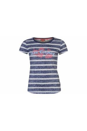 Lee Cooper T-Shirt μπλε-λευκο