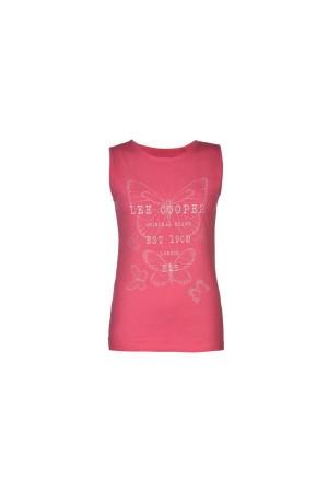 Lee Cooper T-Shirt-αμανικο ροζ