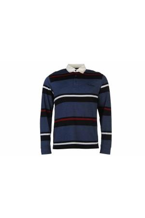 Pierre Cardin Polo T-Shirt μακρυμάνικο  μπλε-λευκο-κοκκινο