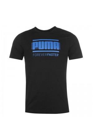 Puma T-Shirt μαύρο
