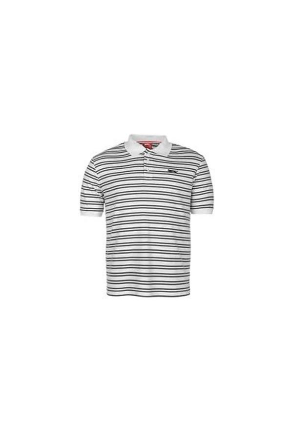 Slazenger Polo T-shirt-Ριγε-γκρι-λευκο