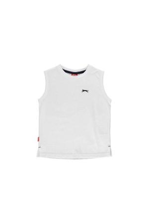 Slazenger T-shirt-παιδικο-5-6 χρονων-αμανικο-λευκο