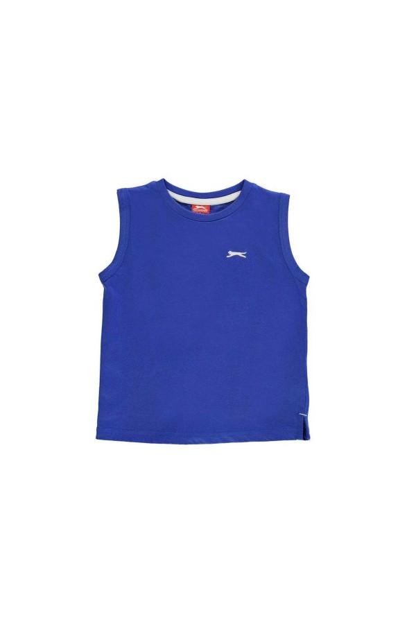 Slazenger T-shirt-παιδικο-5-6 χρονων-αμανικο-ρουα