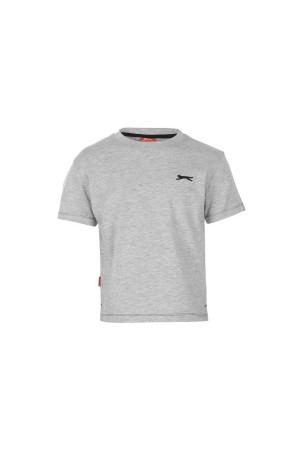 Slazenger T-shirt-παιδικο-5-6 χρονων-γκρι
