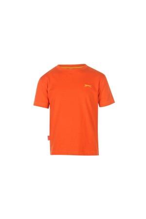Slazenger T-shirt-παιδικο-3-4 χρονων-πορτοκαλι